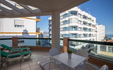 Terrace family room Hotel Torremar in Malaga